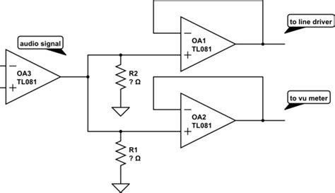 signal buffer lifier op how to split audio with buffers electrical engineering stack exchange