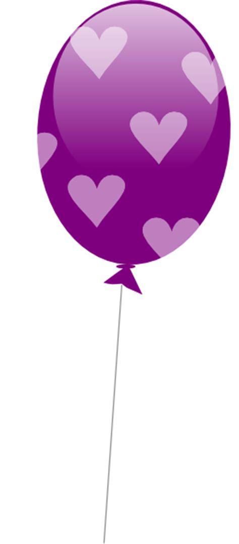 purple balloon  hearts clip art  clkercom vector