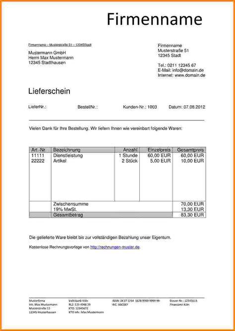 Word Vorlage Lieferschein 6 Lieferschein Vorlage Word Kostenlos Sponsorshipletterr