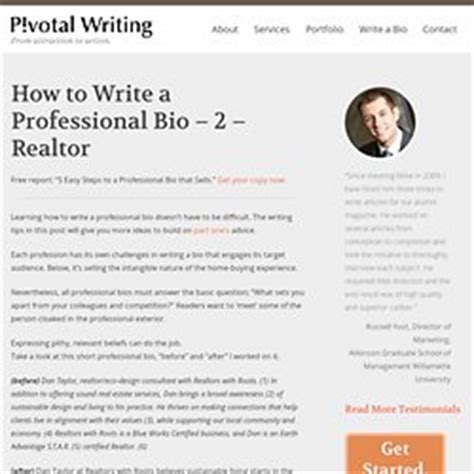 writing a professional profile pearltrees