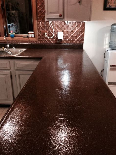 Countertop Restoration Paint by After Coffee Bean Spreadstone Countertop Refinishing