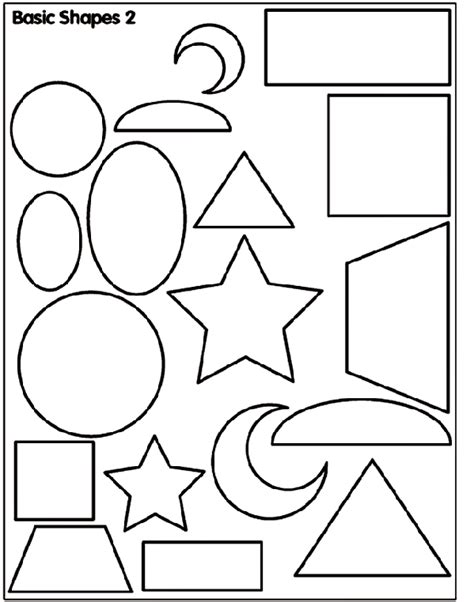 Basic Shapes 2 Crayola Co Uk Basic Shapes Coloring Pages