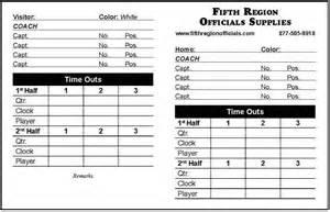 Football Referee Card Template referee equipment football referee data cards