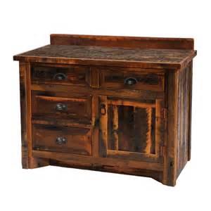 fireside lodge furniture barnwood 6 ft freestanding vanity