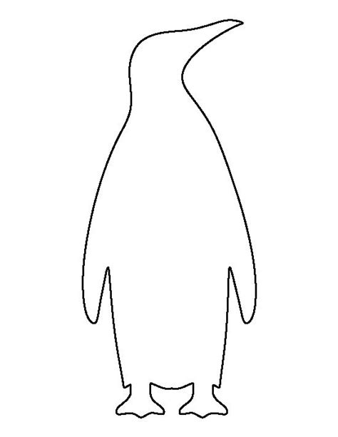 printable penguin template emperor penguin pattern use the printable outline for