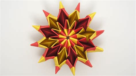 Firework Origami - origami on psychedelic trippy and fireworks