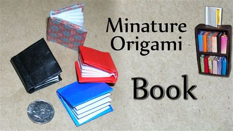 How To Do Origami Book - miniature origami book by david brill
