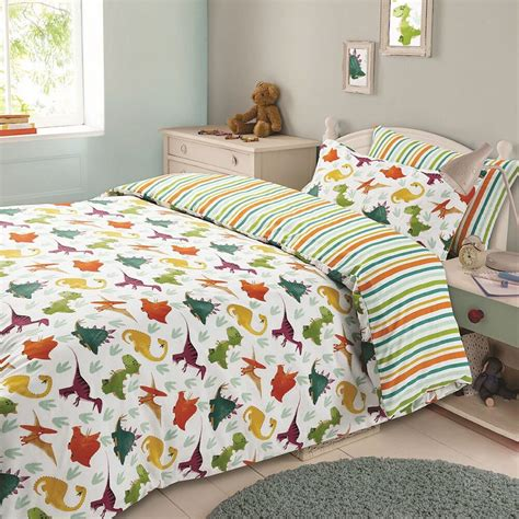 Digger Duvet Cover Boys Single Duvet Cover Set Army Dinosaurs Diggers