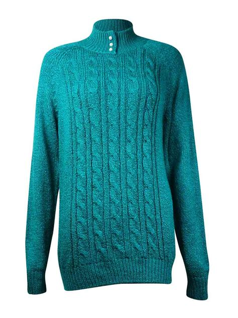 cable knit sweater womens s mock neck cable knit sweater ebay