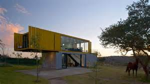 Architectural Kitchen Design 4 shipping containers prefab plus 1 for guests