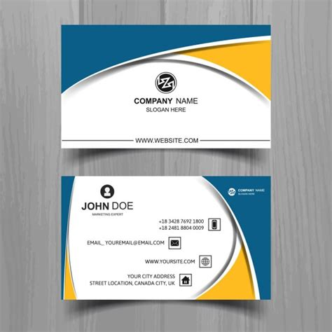 photo business card template with bleeds correct business
