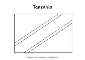 tanzania flag colouring page