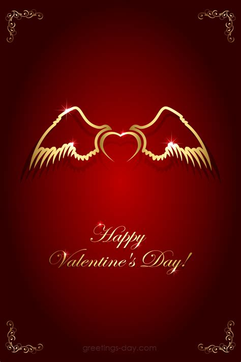valentines day ecard love angel wings