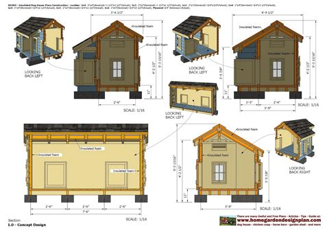 Dog House Floor Plans | home garden plans dh303 insulated dog house plans dog