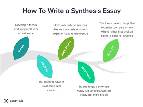 How To Write A Essay by How To Write A Synthesis Essay Essayhub
