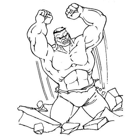 coloriage hulk imprimer gratuit
