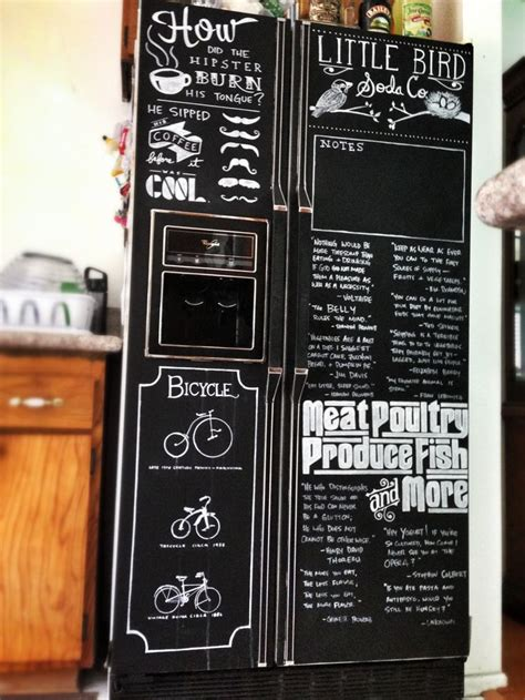 chalkboard paint on fridge chalkboard paint chalk markers refrigerator