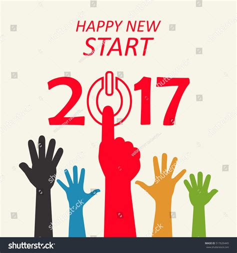 start of new year 2017 happy new year conceptual greeting card vector