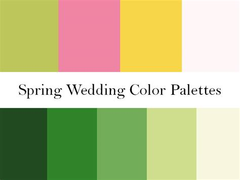 spring color schemes 2 wedding color palettes perfect for a spring wedding
