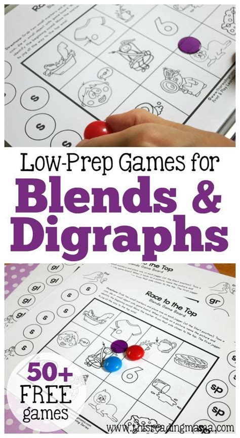printable games for digraphs 50 games for blends and digraphs just print play