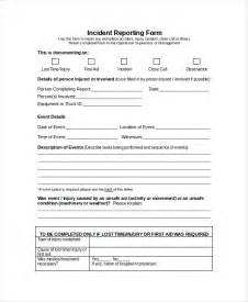 incident report form template doc word report template 8 free word document downloads