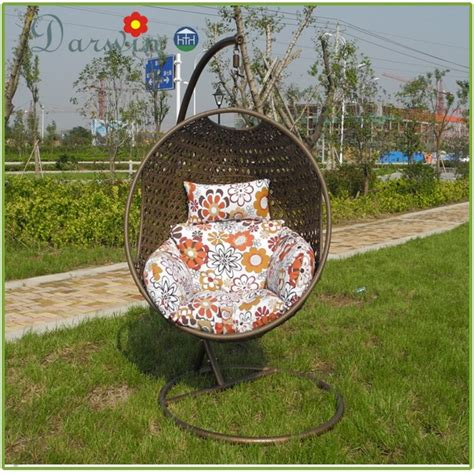 patio hanging egg chair patio wicker hanging egg chair buy wicker hanging egg
