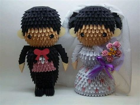 3d Origami And Groom Tutorial - 3d origami groom and amigurumi