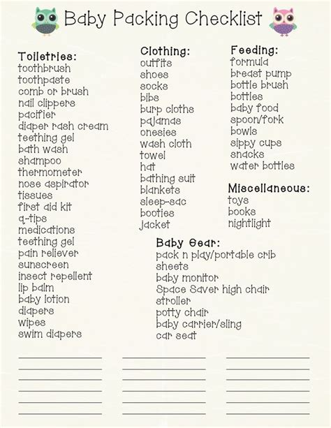 What Do You Need To Plan A Baby Shower by Baby Travel Checklist Free Printable New Babies Baby