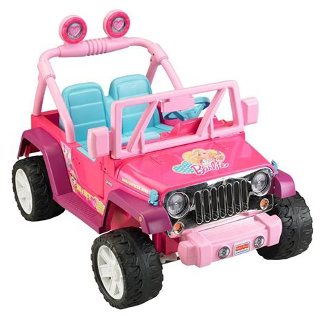 jeep barbie amazon com power wheels barbie jammin jeep wrangler dark