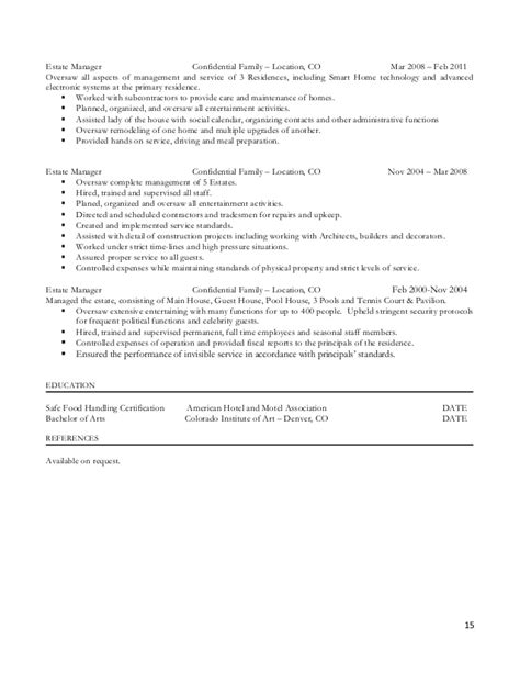 household manager resume resume ideas