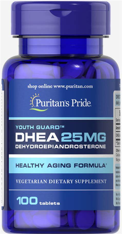 Vitamin Nutrisi Dhea 25mg 100 Capsul dhea 25 mg 100 tablets dhea supplements puritan s pride