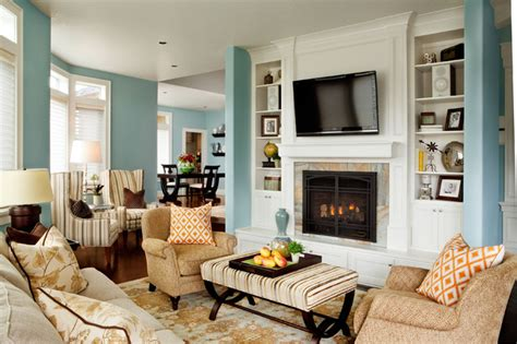 Traditional Home Interiors Living Rooms Basic Sophisticated Hues Traditional Living Room Portland By Garrison Hullinger