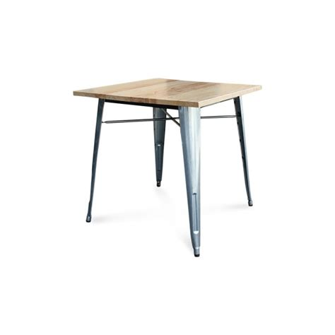 Tolix Dining Table Tolix Square Timber Dining Table Replica