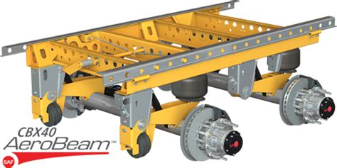 products trailer axles  suspension systems air sliding frame suspensions
