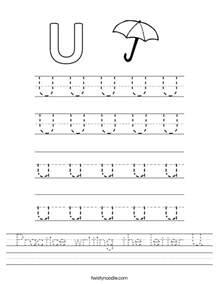 letter u worksheets for preschool kindergarten printable