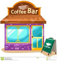 coffee shop stock vector image of curtain exterior