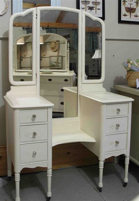 Makeup Vanity Table With Fold Mirror Furniture And Vintage Wooden Makeup Vanity Table With