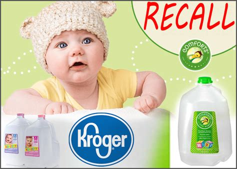 comforts for baby kroger recalls certain comforts for baby water with fluoride