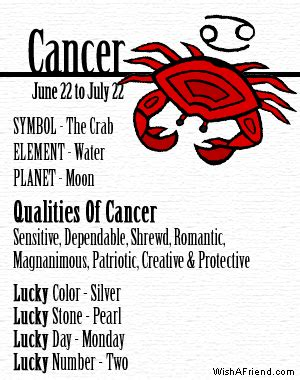 what is my lucky color your zodiac profile cancer