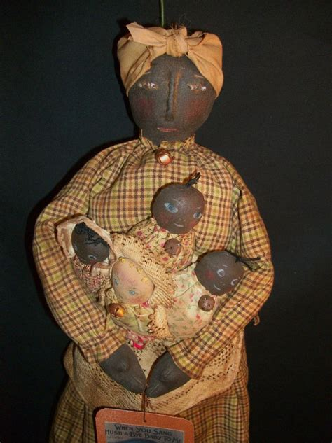 pattern for art doll primitive black folk art doll quot pattern quot mammy babies by