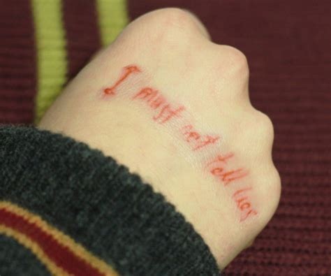 i must not tell lies tattoo harry potter temporary