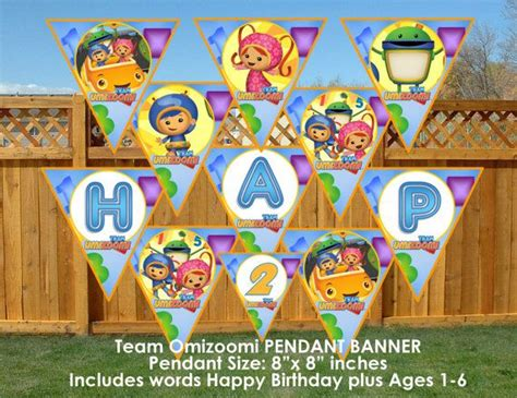 printable team umizoomi birthday banner 48 best images about umizoomi on pinterest set of