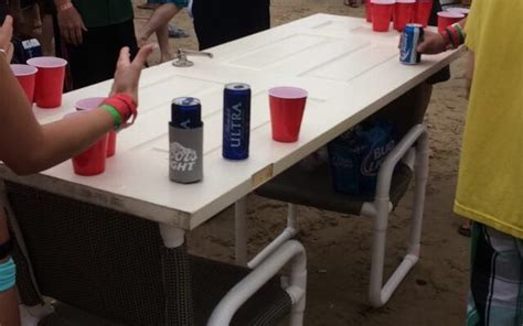 total frat move making   beer pong table