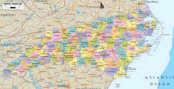 carolina map free large images