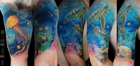 underwater realm by alekspunktattoos on deviantart