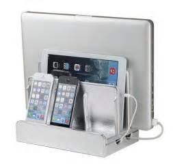 charging stations for phones g u s silver leatherette multi device charging station