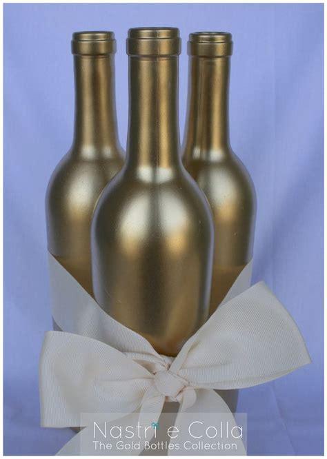 Gold Bottles Decoration   Nastri e Colla in 2019   Wine