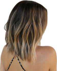 hair cut medium length front at the back back view medium bob hairstyles with blonde highlights