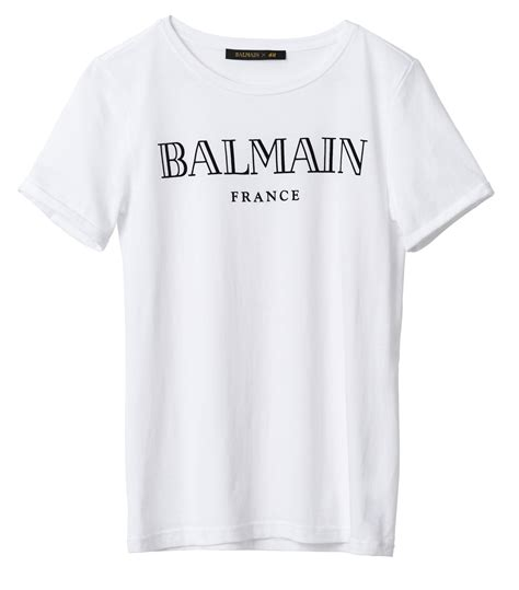 H M Tshirt balmain x h m t shirt what s haute