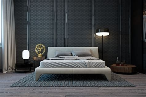 bedroom wall texture a modern flat with striking texture and dark styling